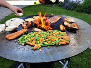 Feuerplatte von der Firma Grillrost.com