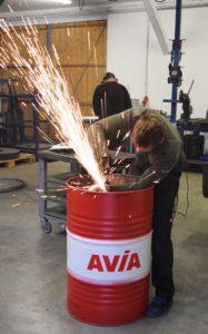 Bauanleitung einer Feuertonne