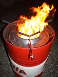 Ausbrennen der Feuertonne