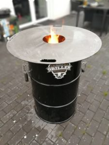 Feuerplatte Grillplatte Plancha 80cm Kugelgrill Rundgrill Feuertonne