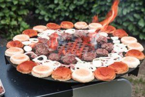 BBQlicate 80 cm Feuerplatte Burger