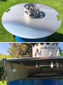 Feuerplatte VomRost Mit Grill-Aufsatz