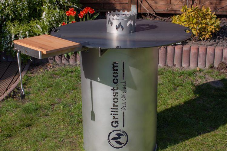 Feuerplatte Feuertonne Grillrost.com Grillen Aufbau