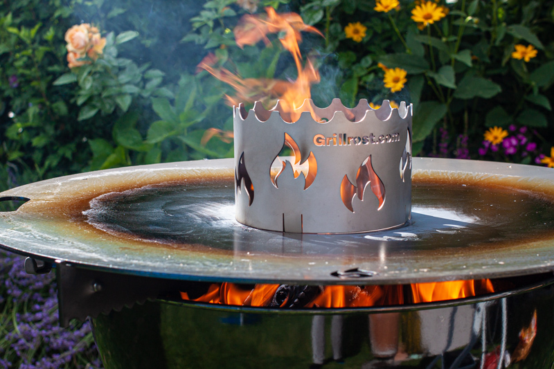 Einbrennen Feuerplatte Wokaufsatz Kugelgrill