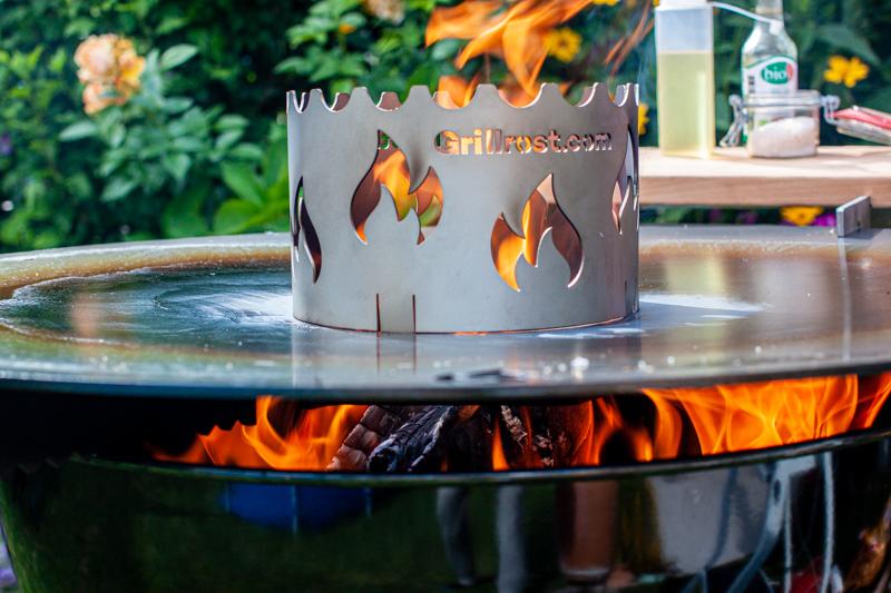 Feuerplatte Einbrennen Wölbung Fett Wokaufsatz Kugelgrill