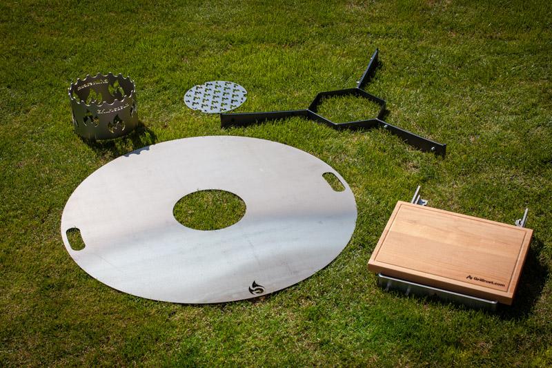 Set Feuerplatte für den Kugelgrill